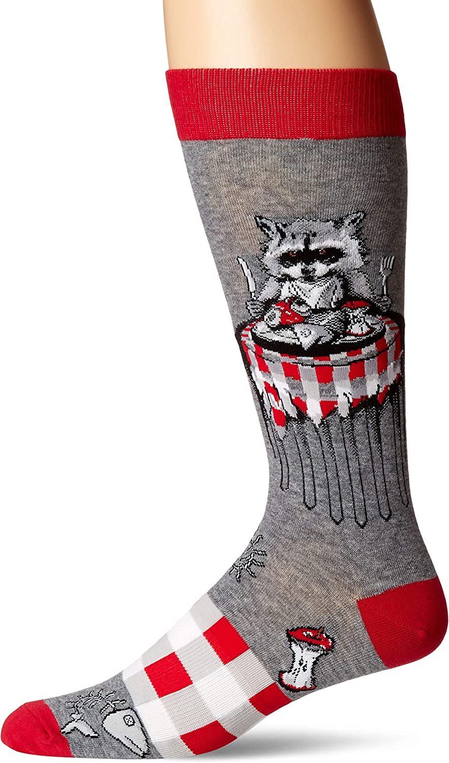 K Bell Socks mens Pop Culture Slapstick Fun Novelty Crew Socks Casual Sock