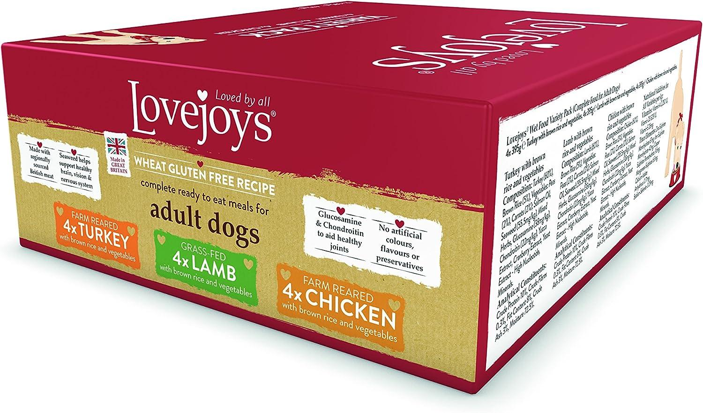 Lovejoys Complete Wet Adult Dog Food Variety Pack, 12 x 395 g