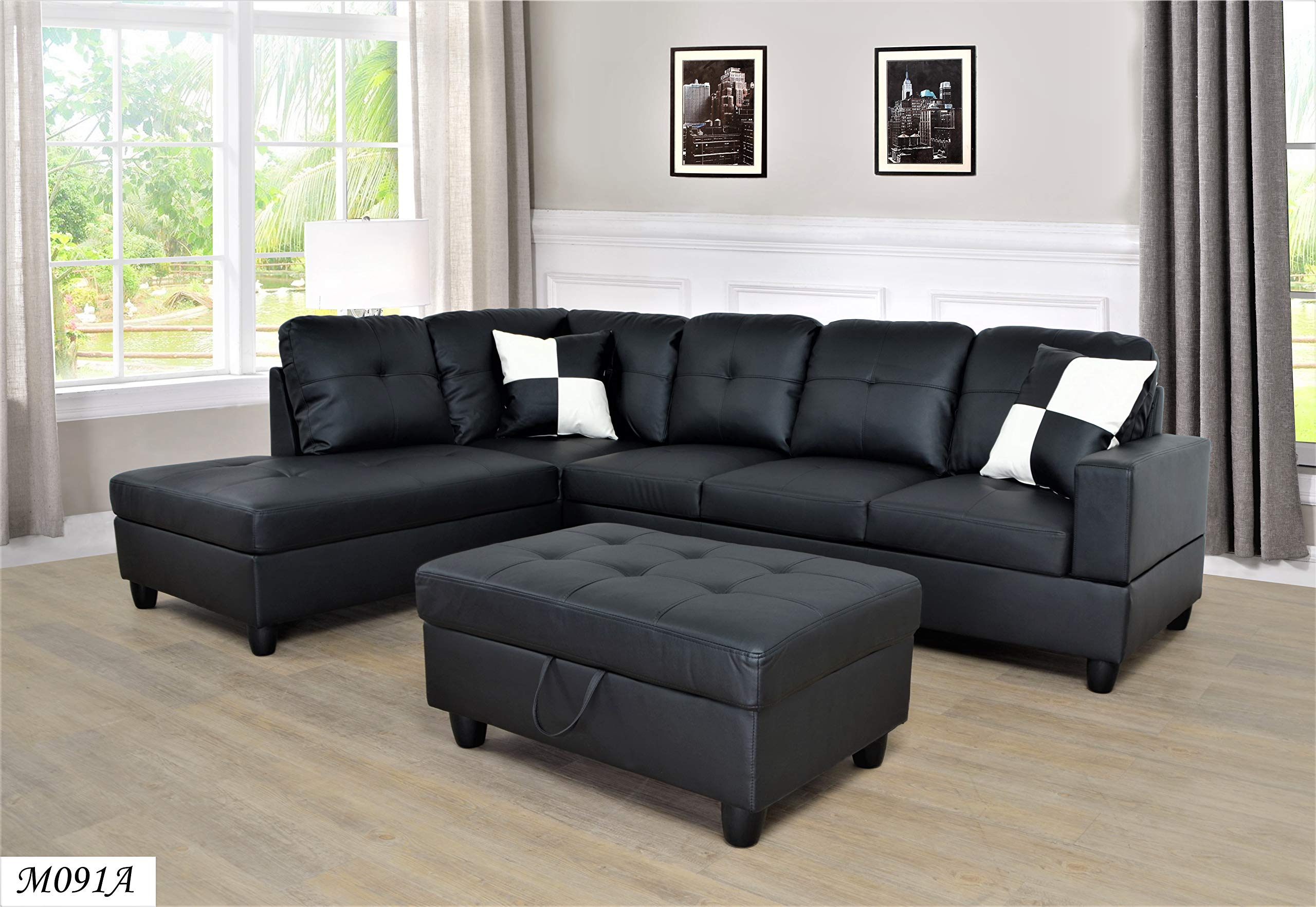 Lifestyle Facing Left Chaise 3PC Sectional Set by Mega Brands