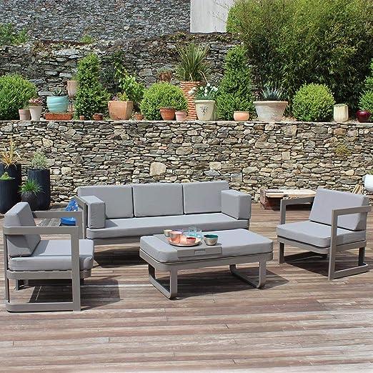 RESIDENCE 794468 Salon de Jardin Bas 4 Pièces, Aluminium ...