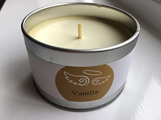 Ángel velas – pura cera de soja aromática plata lata vela ...