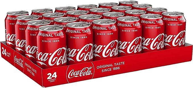 Coca Cola Coke Soft Drink Can 330ml Ref A00768 [Pack 24]: Amazon.es: Alimentación y bebidas