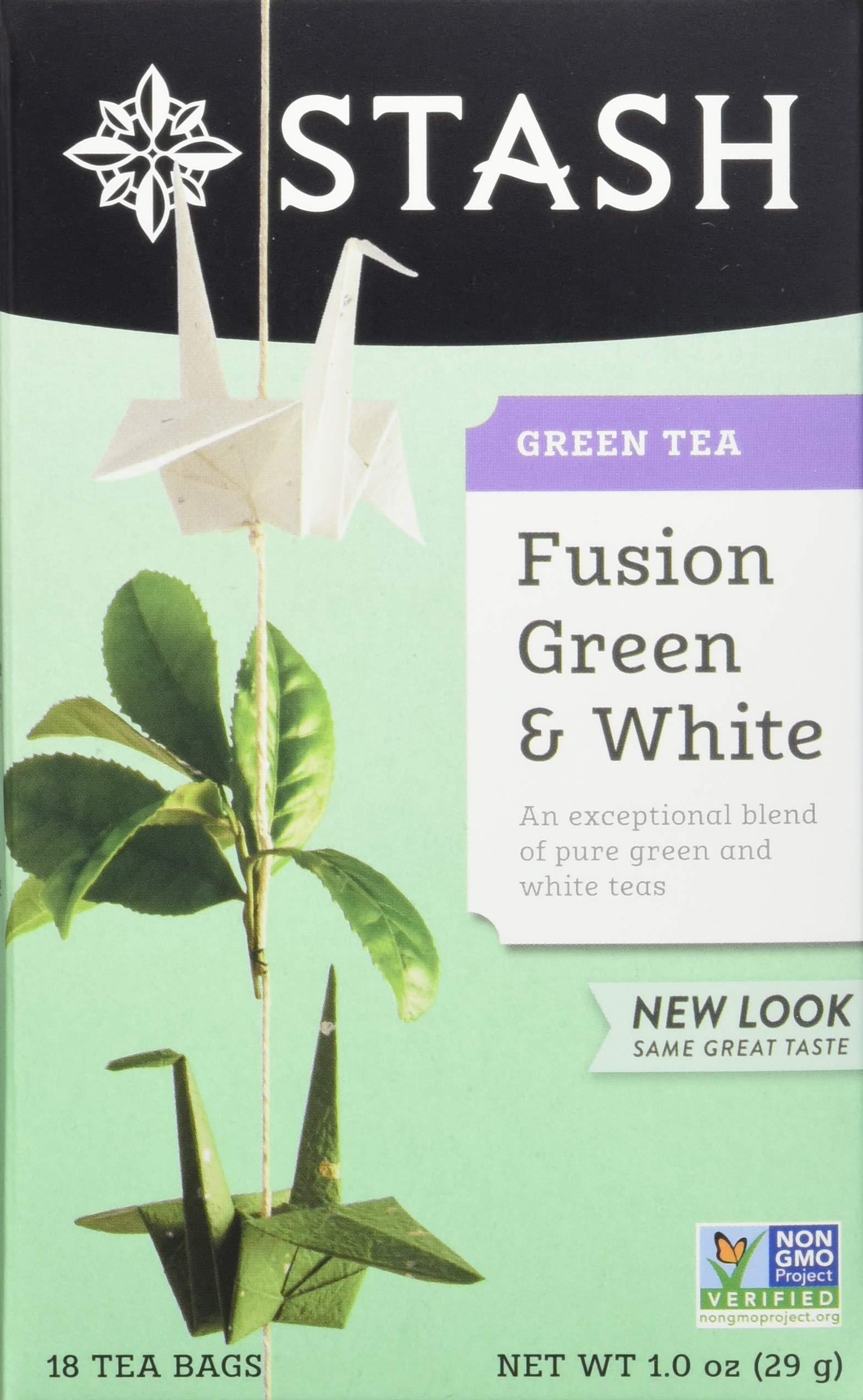 Stash Tea Fusion Green & White Tea 18 Count Tea Bags in Foil (Pack of 6) (Packaging May Vary) Individual Tea Bags for Use in Teapots Mugs or Cups, White Tea and Green Tea, Brew Hot or Iced by Stash Tea