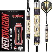 RED DRAGON Golden Eye Tungsten Steeltip Darts Set - 26g with Flights and Stems
