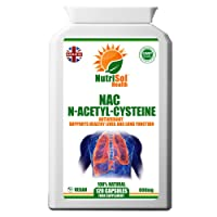 NutriSol Health NAC - N-Acetyl-Cysteine 600mg 120 Capsules | Supports glutathione Production | Supports Healthy Liver and Lung Function | Helps to Maintain Healthy Brain Function.