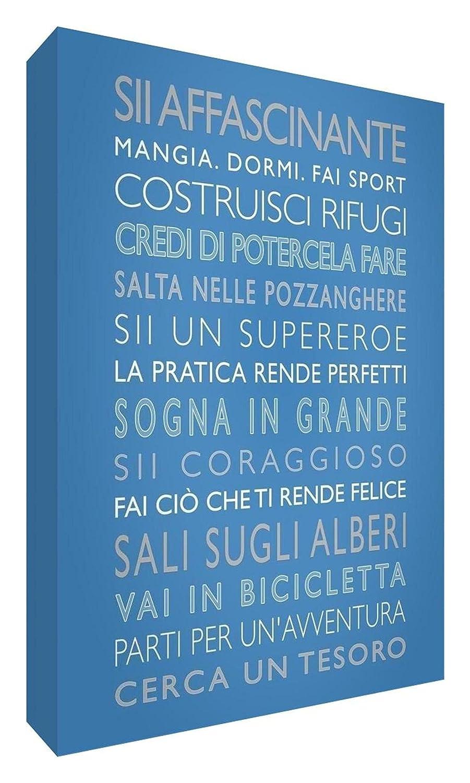 Feel Good Art BOYSRULES-A6BLK-01IT Ragazzi Spaccano Blocco Decorativo, Disegno Moderno in Colorato Stile Tipografico, Beige, 15 x 10.5 x 2cm BOYSRULES-A5BLK-10IT