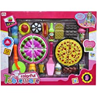 Toys N Smile Pizza Set Toys for Kids, Kitchen Pretend Play Mini Fast Food Toy for Kids