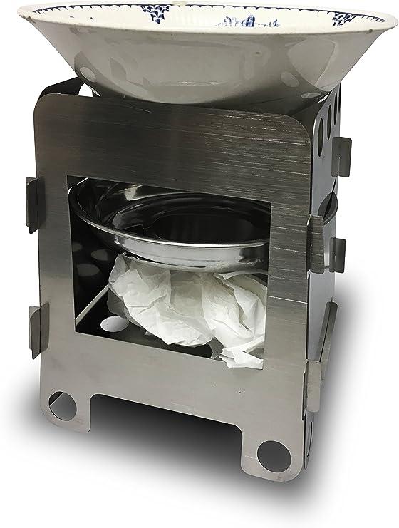 * handyheat * al aire libre portátil estufa de acero – -Camping – - – -senderismo estufa – cabe en el bolsillo – rápido montar – fácilmente hace ...