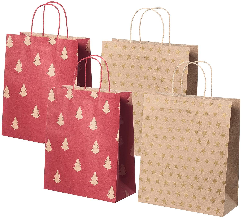 Christmas Gift Bags For Kids.Amazon Com Ikea Kraft Paper Christmas Gift Bags With Handle