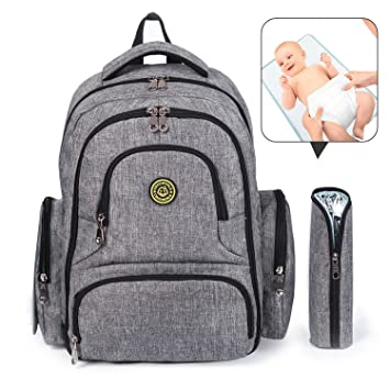 Amazon.com: Bebé Pañal Bolsa, cshidworld multifunción ...