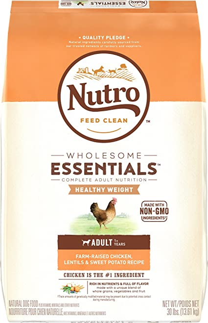 Nutro Wholesome Essentials Healthy Weight Dry Dog Food - Best Formula for Proper Weight Loss