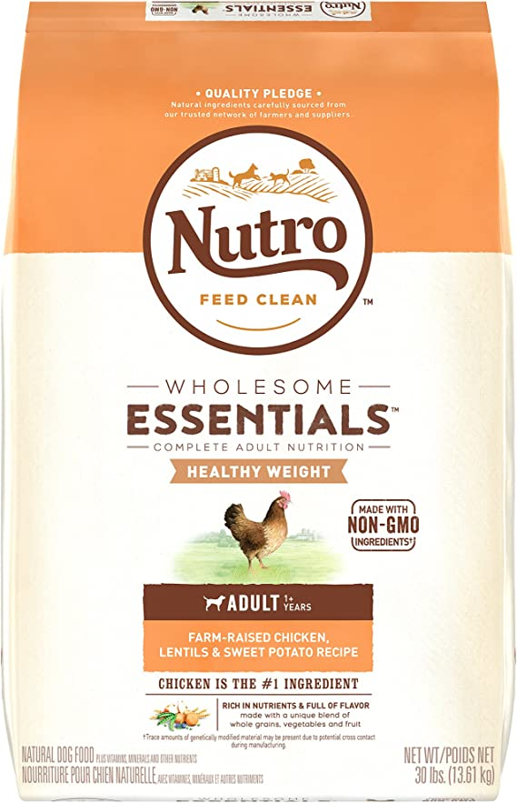 Nutro Wholesome Essentials Healthy Weight Adult Dry Dog Food - Dog Food for Healthy Weight Management