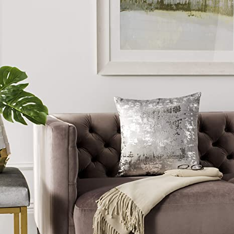 Amazon.com: Safavieh Edmee - Almohada metálica, color gris ...