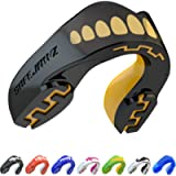 SAFEJAWZ Mouthguard Strapless Slim Fit, Adults and Junior with Case for Boxing, Basketball, Football, MMA, Martial Arts…