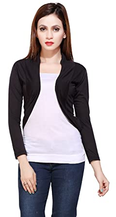 Image Unavailable. Image not available for. Colour  Bfly Women s Viscose  Short Shrug (Black) aa4dfe6e0
