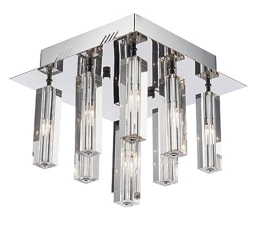 Dar Galileo - Lámpara de techo semiempotrable, 9 luces ...