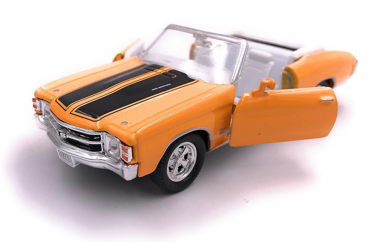 Welly 1971 Chevrolet Chevelle SS 454 modè le de Licence de Voiture Produit 1: 34-1: 39 Jaune