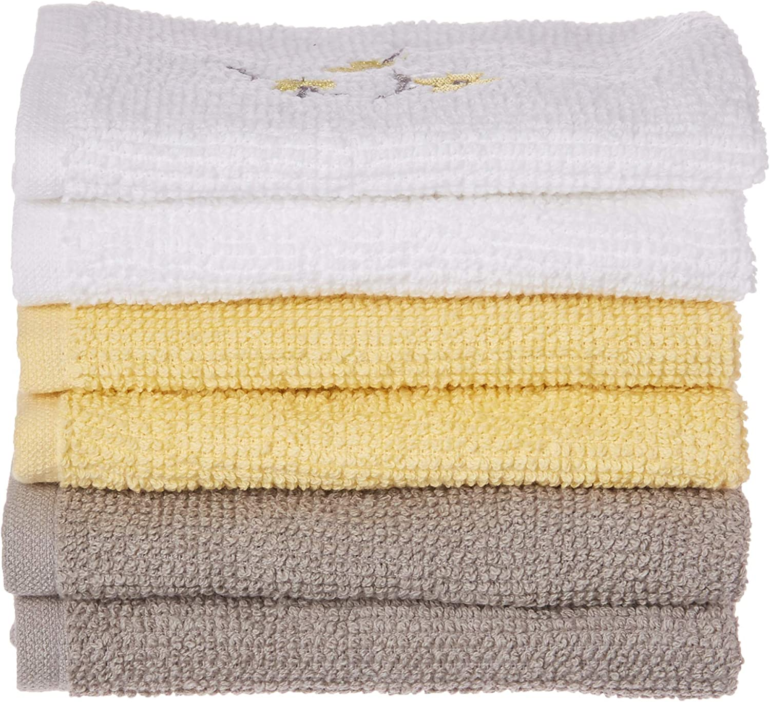 SKL Home by Saturday Knight Ltd. Spring Garden Wash Cloth Set, Multicolored, 6-Pack 6 Count