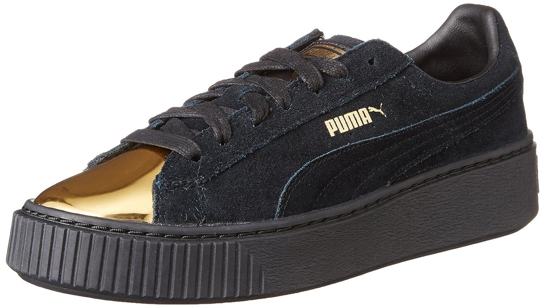 puma suede platform gold