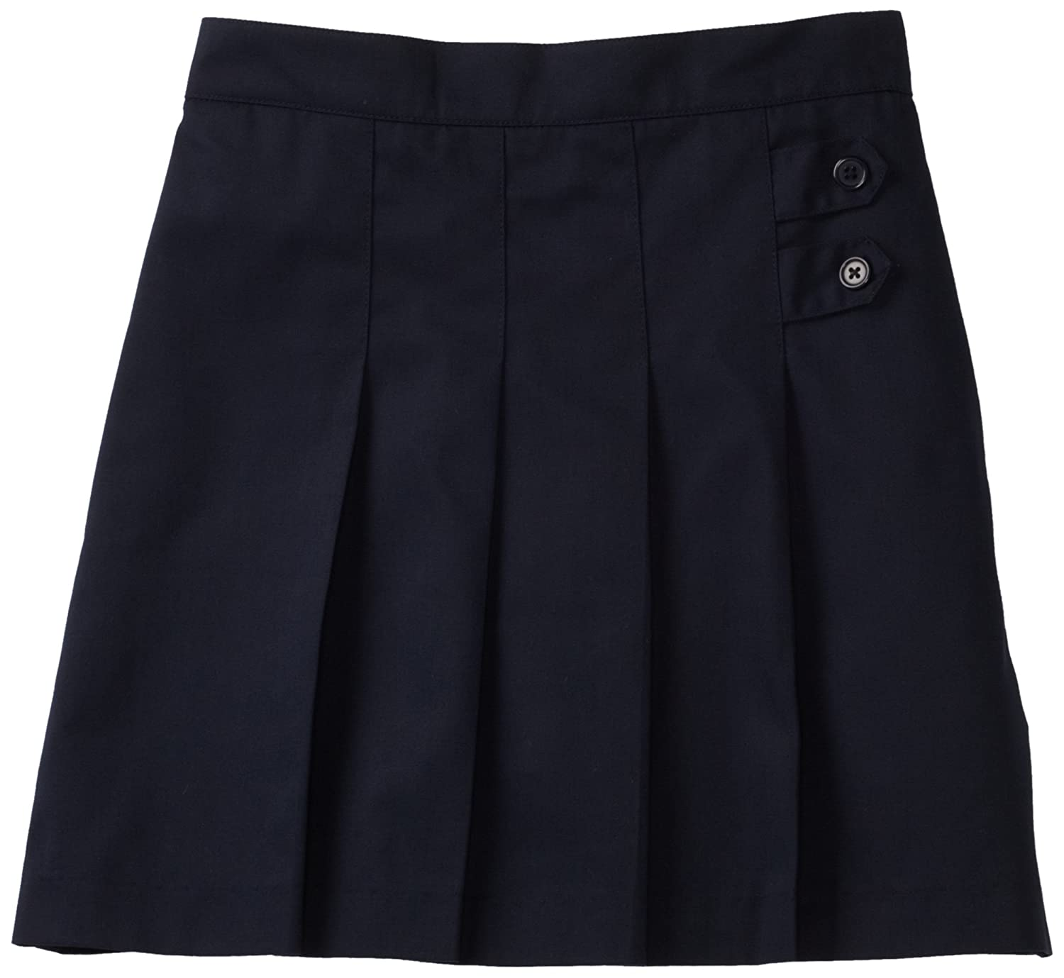 CLASSROOM Big Girls Pleated Tab Scooter Half Size, Dark Navy, 10.5 55123-Dark Navy-10