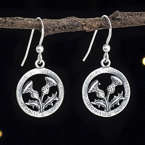 745744658 Image Unavailable. Image not available for. Color: Sterling Silver Scottish  Thistle Earrings ...