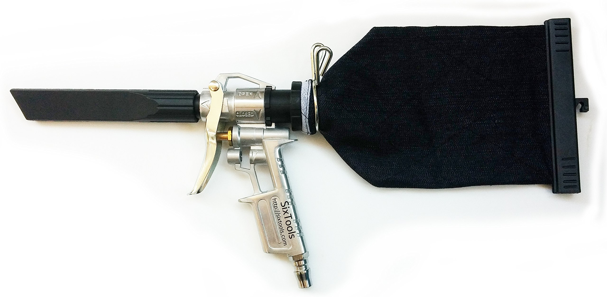 SixTools Air Vacuum Dust Suction Cleaner Gun
