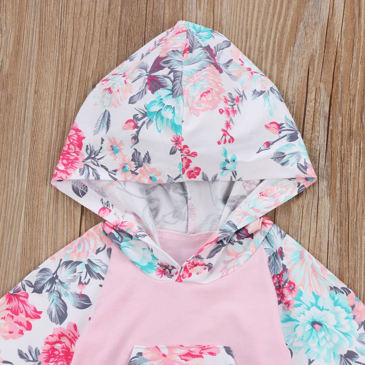 Floral Pant Set Leggings 2 Piece Outfits 6M-3Y Baby Girls Floral Hoodie