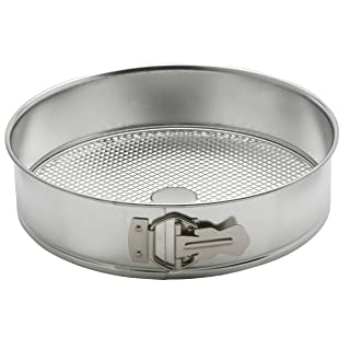 Mrs. Anderson's Baking Springform Pan, Waffle Bottom, Tinned Steel, Round, 10-Inches
