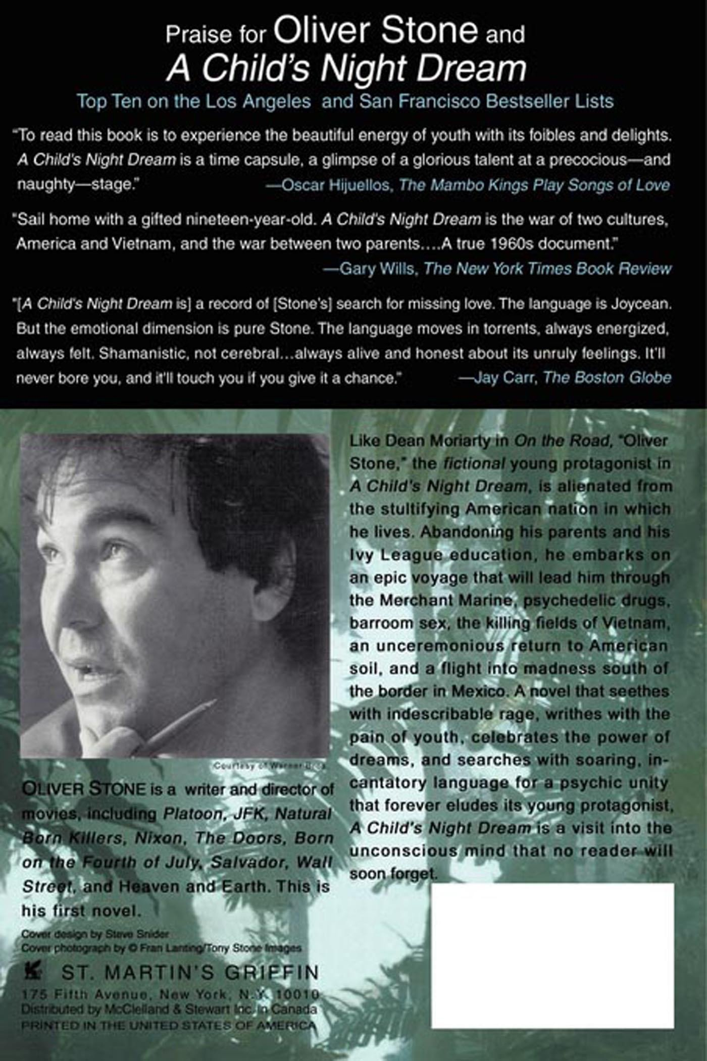 A Child's Night Dream: A Novel: Oliver Stone: 9780312194468: Amazon:  Books