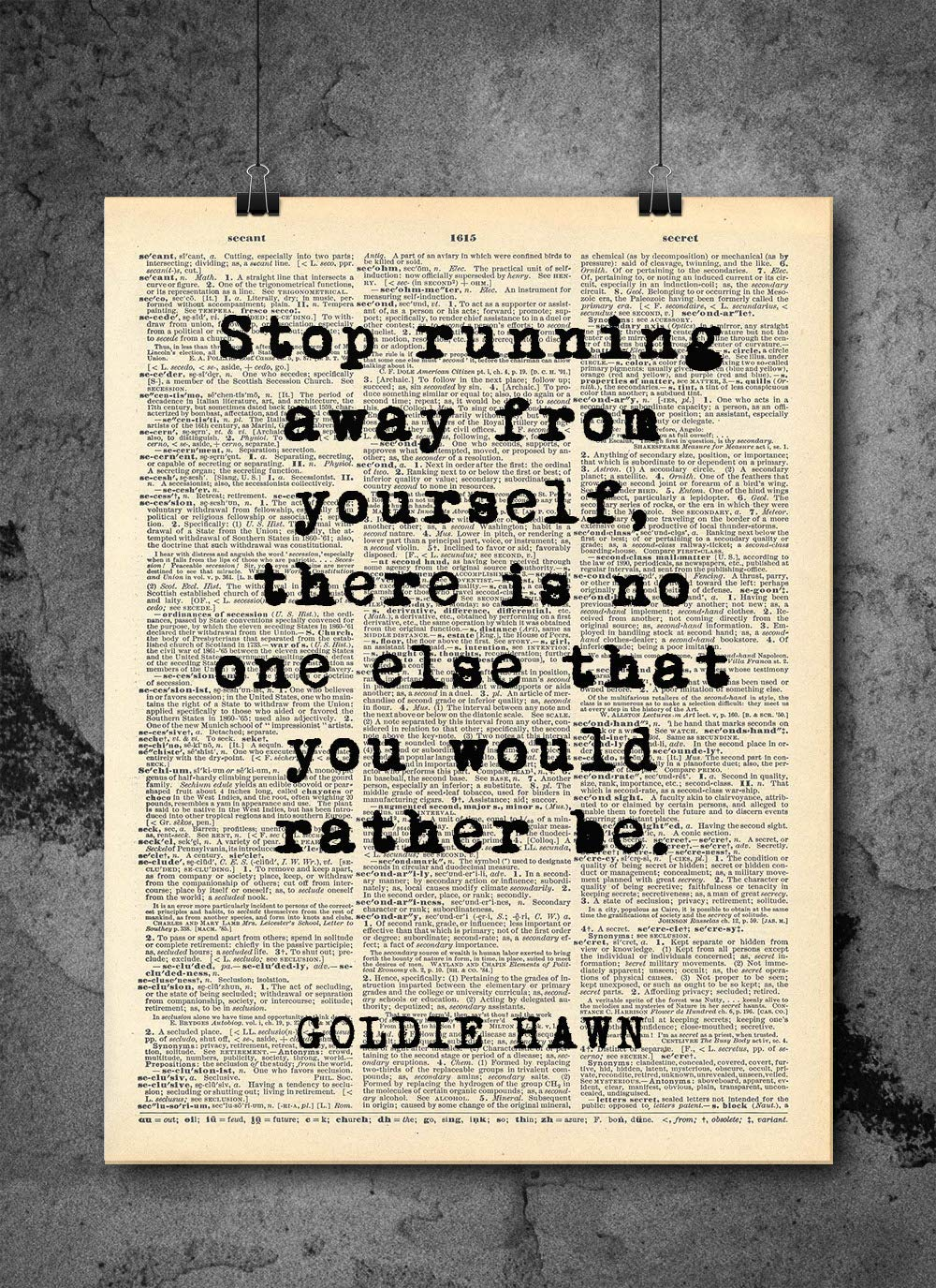 Amazon.com: Goldie Hawn - Stop Running Away From Yourself ...