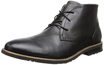 Rockport Men's Ledge Hill 2 Chukka Boot Black Leather 11.5 W (EE)-11.5