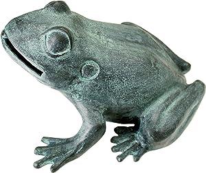 Design Toscano Medium Bull Frog Cast Bronze Garden Statue
