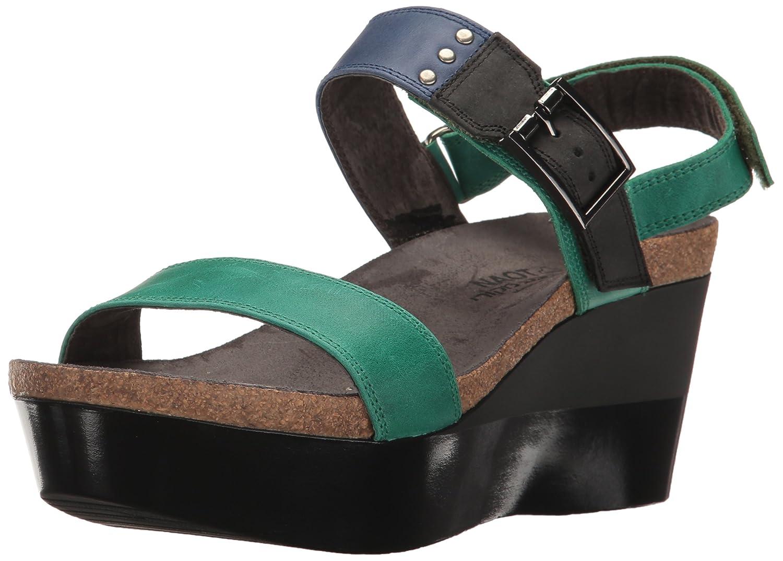 NAOT Women's Alpha Print Wedge Sandal B01HT7OPT8 42 (US Women's 11) M|Oily Emerald Nubuck/Oily Blue Nubuck/Oily Coal Nubuck