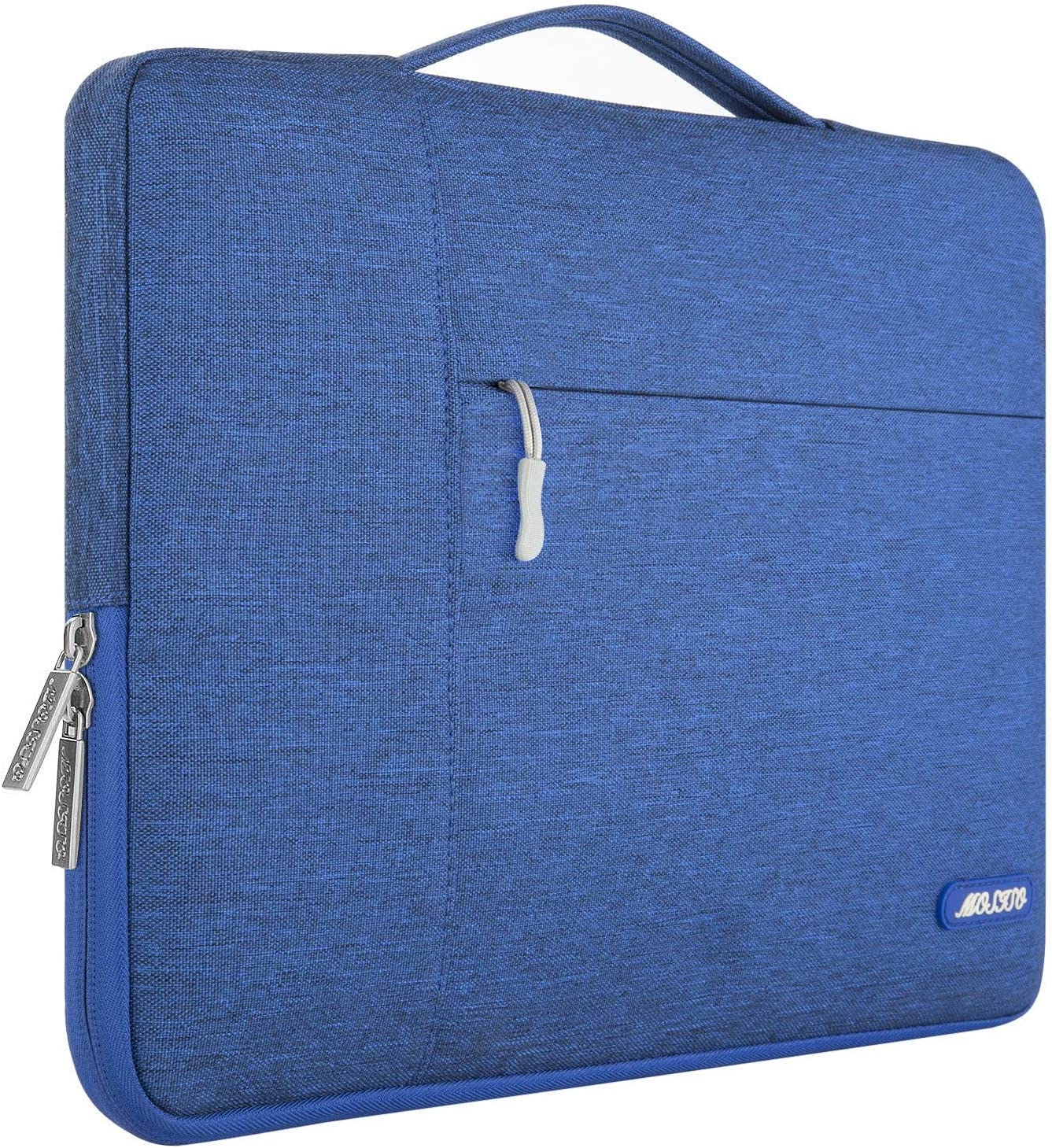 MOSISO Laptop Sleeve Compatible with 13-13.3 inch MacBook Air, MacBook Pro, Notebook Computer, Polyester Multifunctional Briefcase Bag, Royal Blue