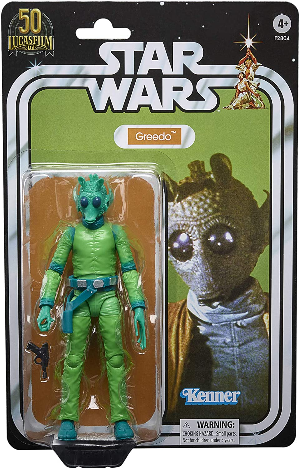 Exclusive STAR WARS The Black Series Greedo 6-Inch-Scale Lucasfilm 50th Anniversary Original Trilogy Collectible Figure
