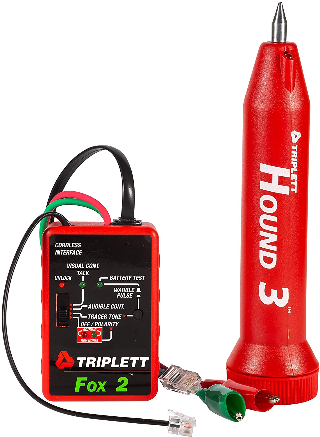 Triplett 3399 Fox 2 /& Hound 3 Wire Tracing Kit With Carrying Case NEW