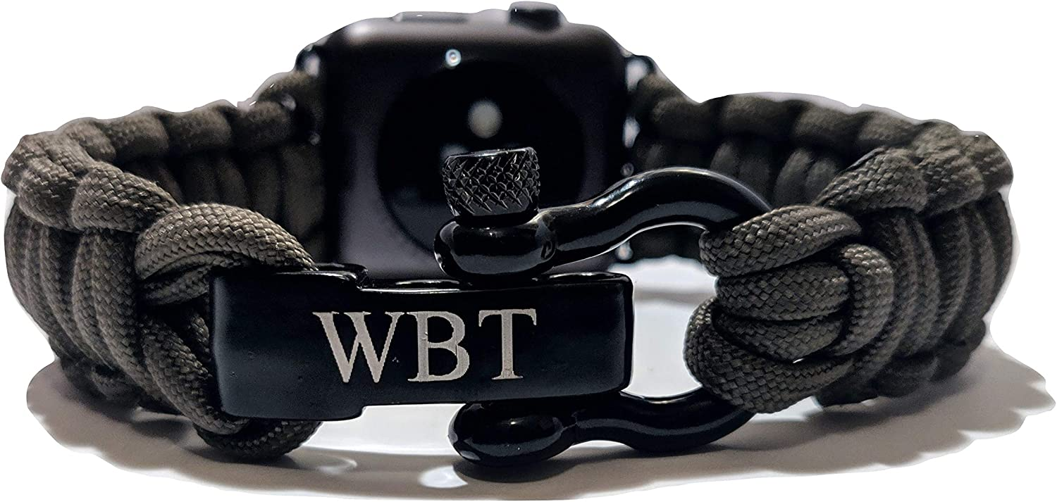WATER BEAR TACTICAL 550 Paracord Band Made for Apple Watch 42mm & 44mm for Apple Watch Series 6, 5, 4, 3, 2, 1