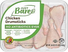 Just Bare Natural Fresh Chicken Drumsticks | Family Pack | No Antibiotics Ever | Bone-In | 2.25 LB