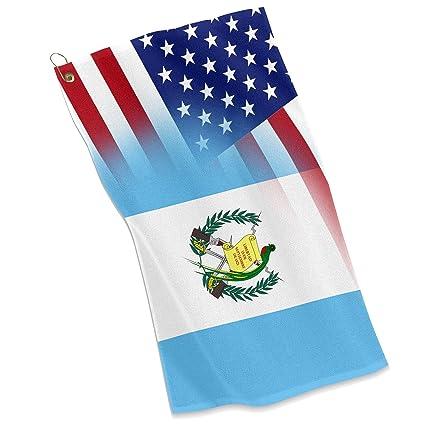 Golf/Toalla – bandera de Estados Unidos y Guatemala – Guatemala deportes