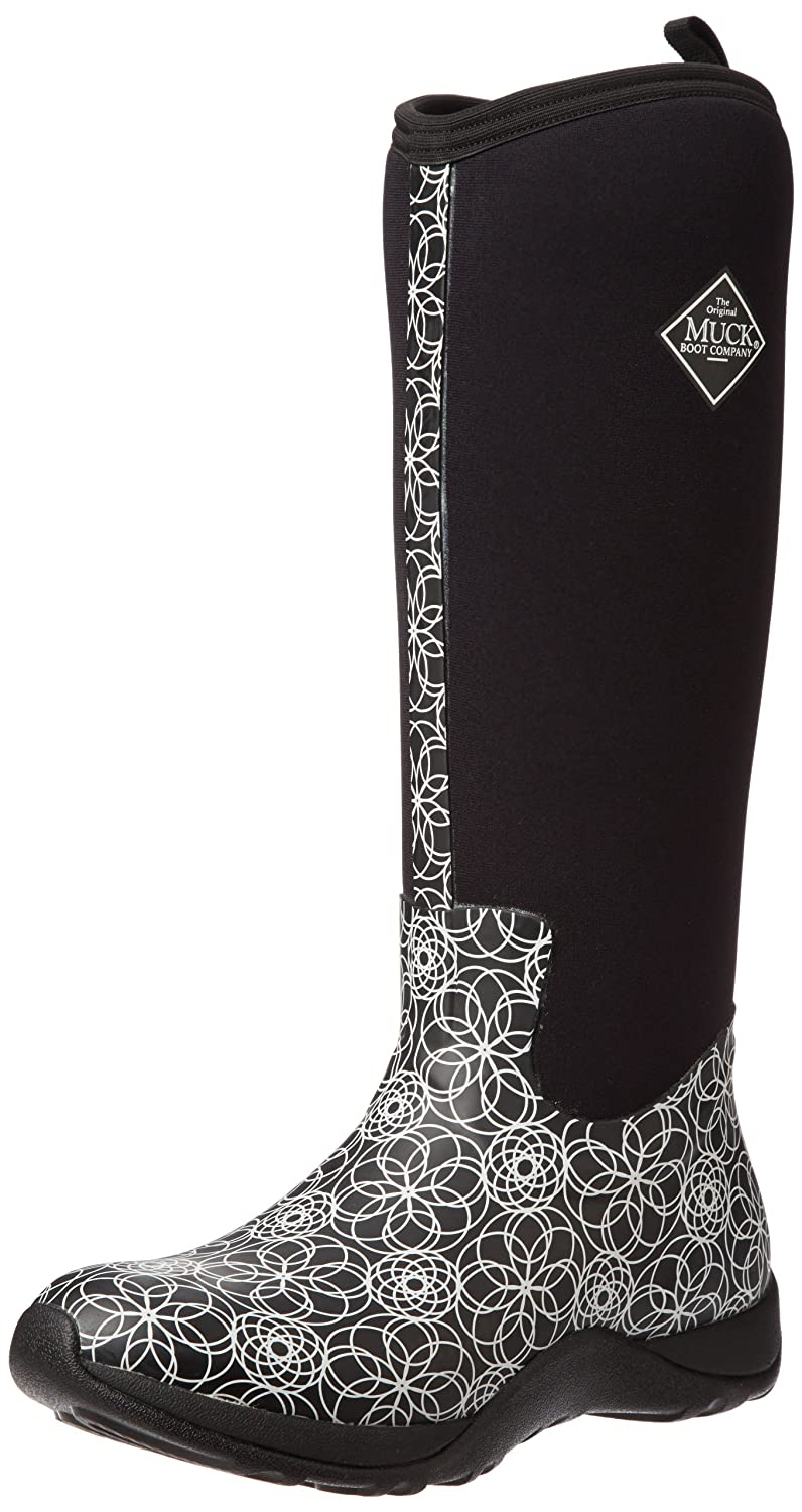 Amazon.com | Muck Boots Women's Arctic Adventure Print Black Swirl ...