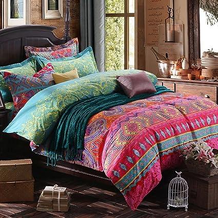 273293ce1b45 Newrara Home Textile Boho Bedding Set Bohemian Bedding Bohemian Style Bedding  Set Bohemian Duvet Covers Peacock