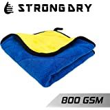 Strongdry Microfiber Cloth for Car Detailing 800GSM Coral Fleece Plush Towel