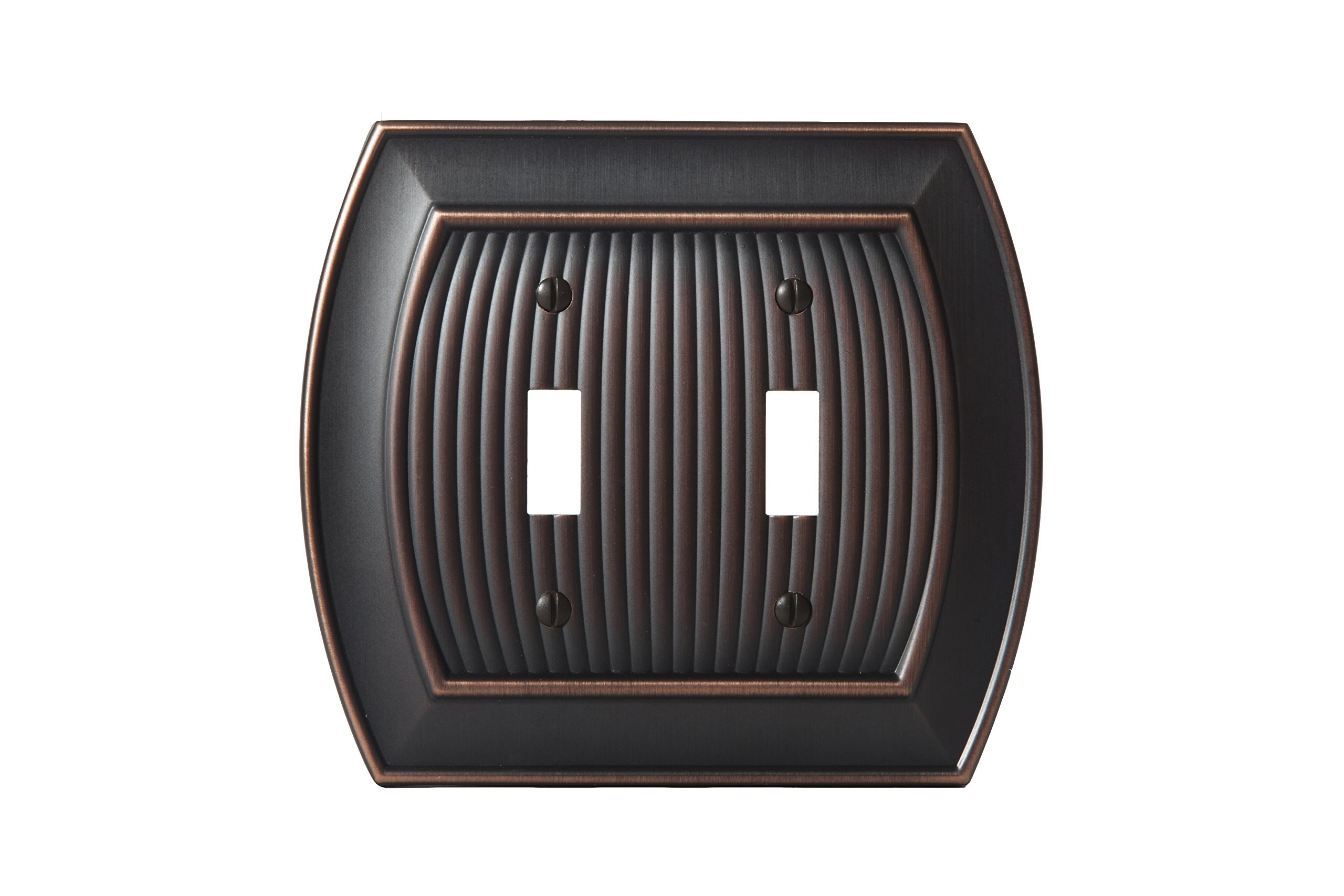 Amerock BP36529ORB Allison 2 Toggle Wall Plate - Oil-Rubbed Bronze