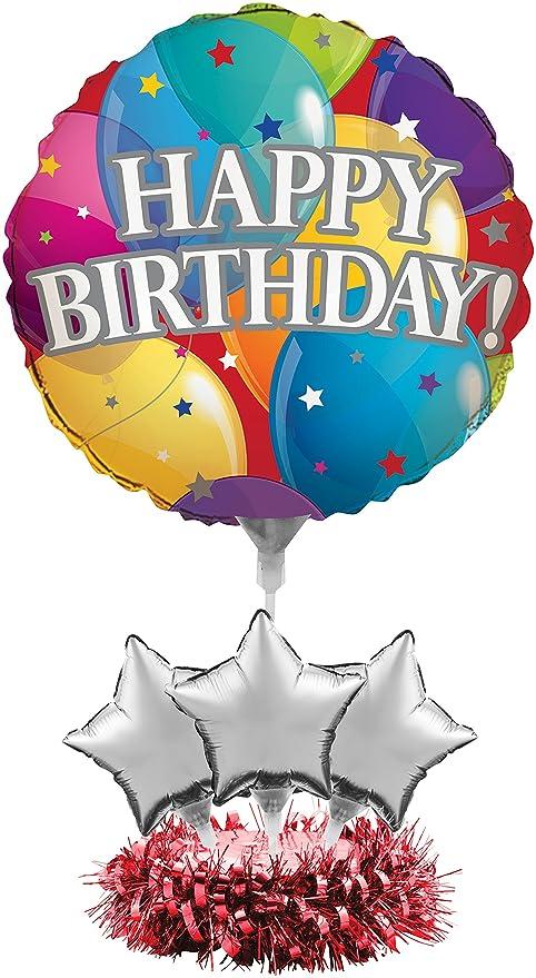 Amazon Com Creative Converting 268809 Metallic Happy Birthday