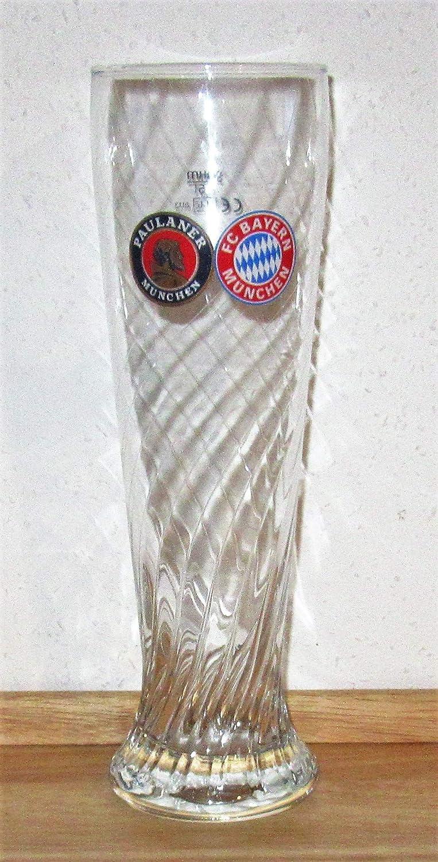 Vaso de cerveza de Paulaner / vidrio de cerveza blanco / Bayern de Múnich / vasos / cerveza de trigo