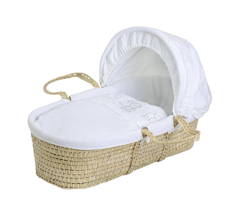 Baby Elegance - Cesto porte-enfant, motivo: orsetto e stella, colore: Bianco 3109