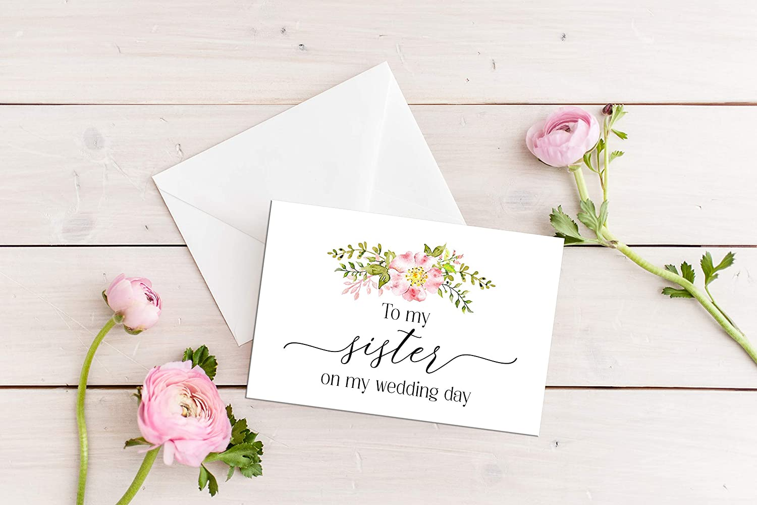 Bridal Party Gift Sister Card Disney Wedding Cards Bridesmaid Gifts Cute To My Sister on My Wedding Day Card Sister Gift Disney