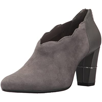 Aerosoles Women's Teleport Ankle Boot, Dark Gray Suede, 5.5 M US: Shoes