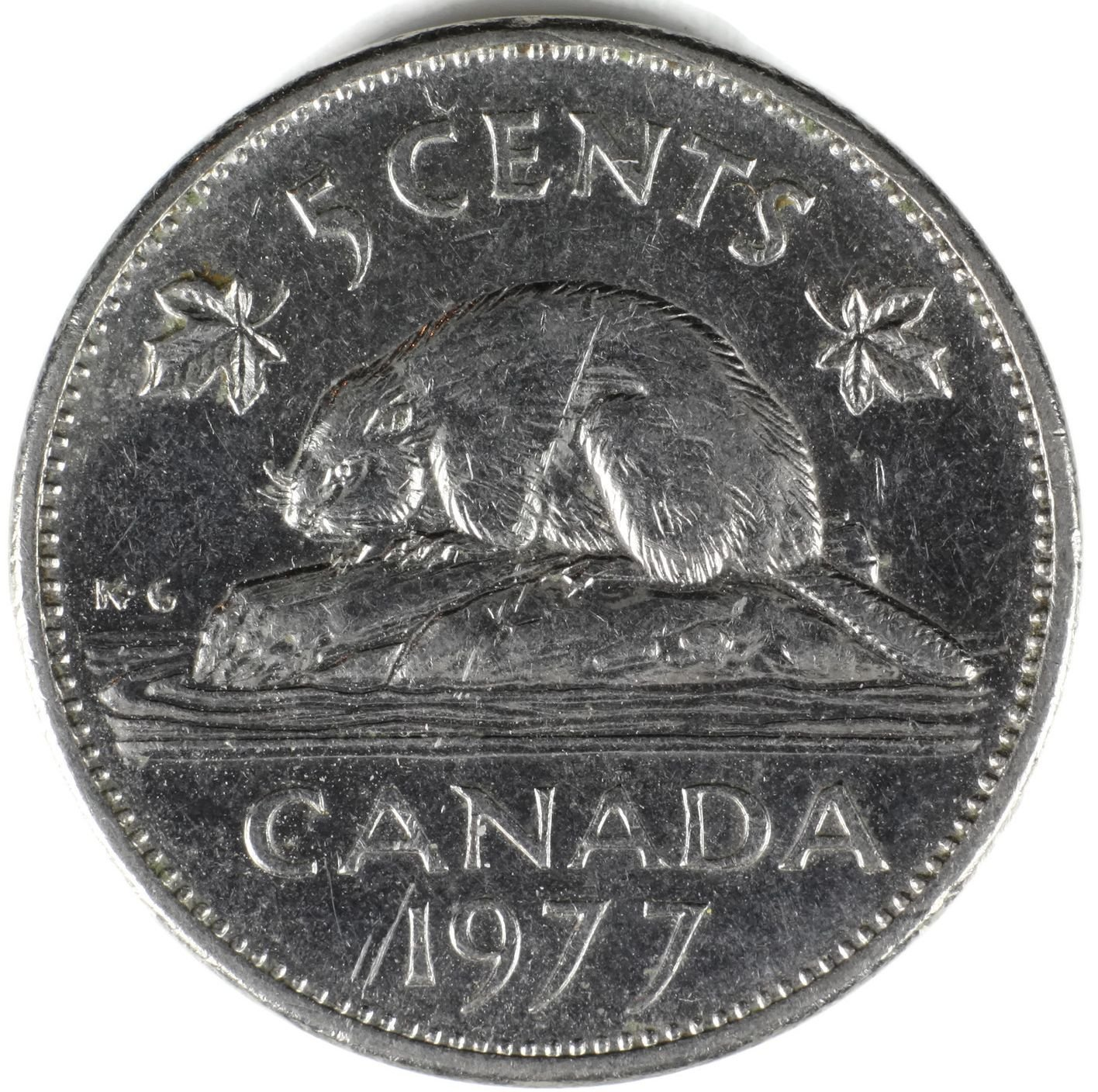 1977 Ca Canada Beaver 5 Cents Nickel Fair At Amazons Collectible Coins Store