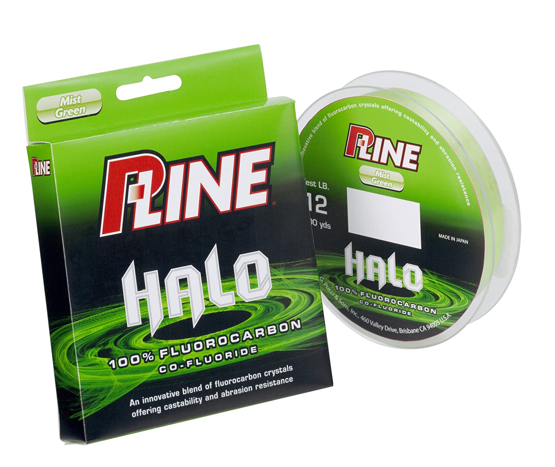 P-Line Halo Co-Fluoride Fluorocarbon Mist Green Fishing Line 200-Yard